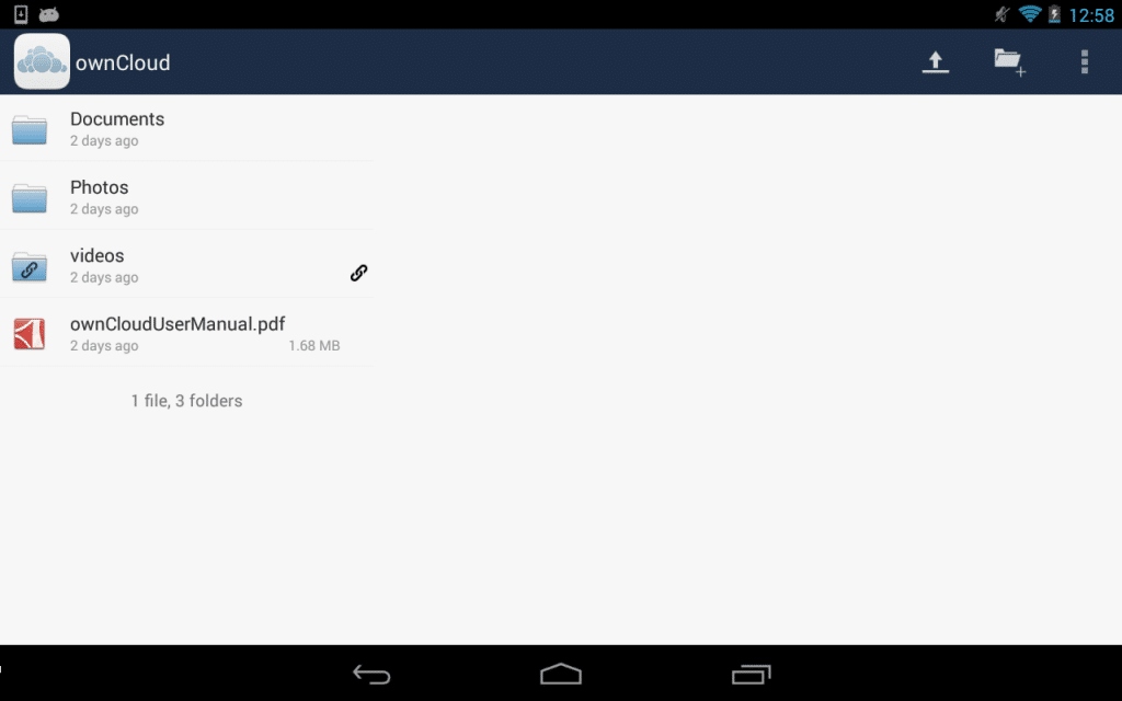 Owncloud sur Android