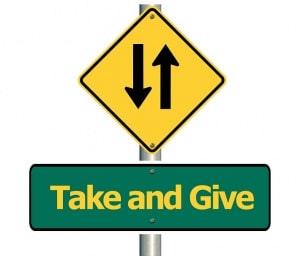 prendre donner contribution